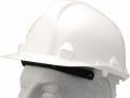 White safety cap, safety helmet, hard hat